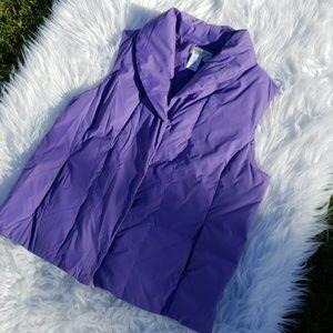Coldwater Creek Purple Down Vest